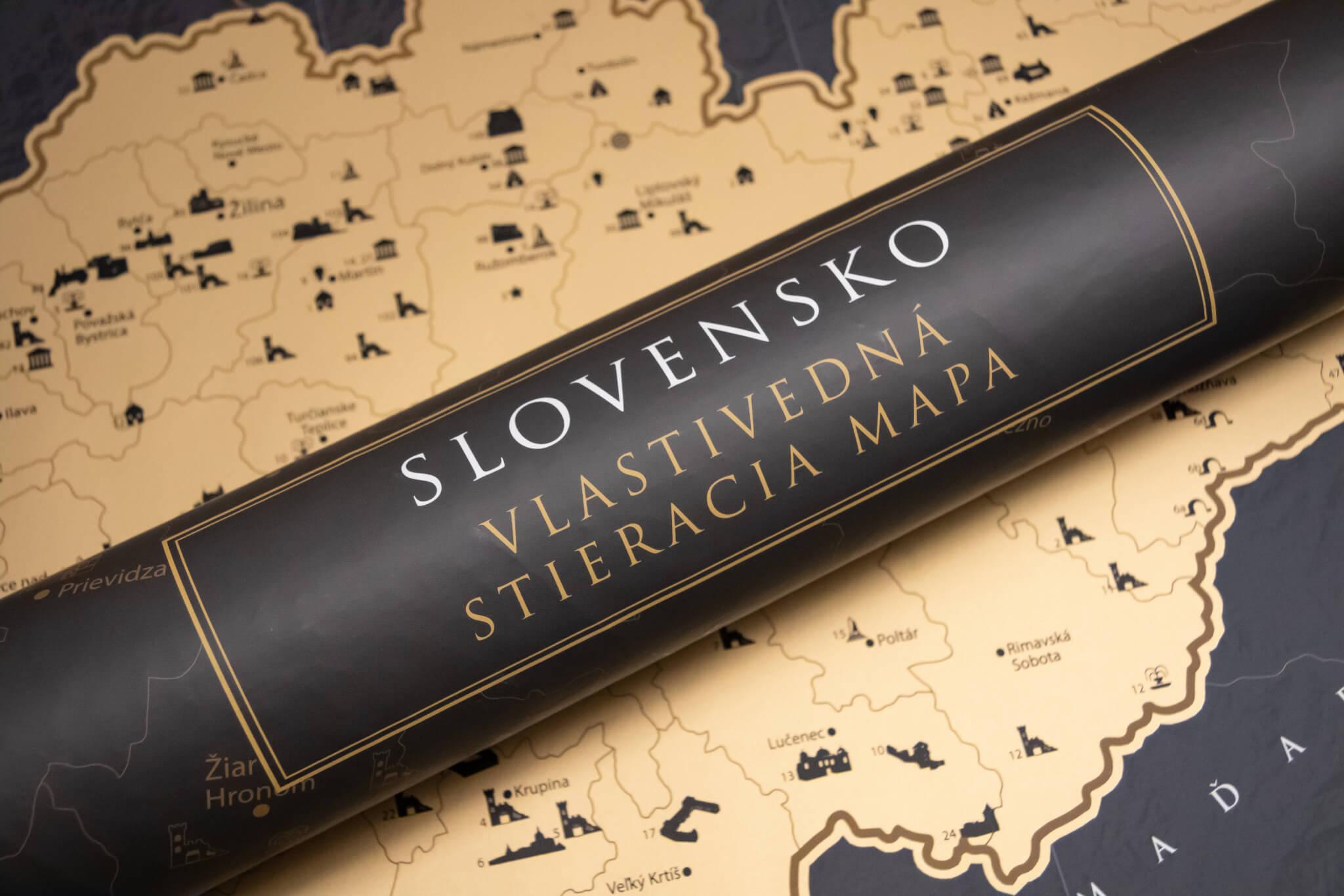 Mapa para raspar de Eslovaquia - Tubo y mapa