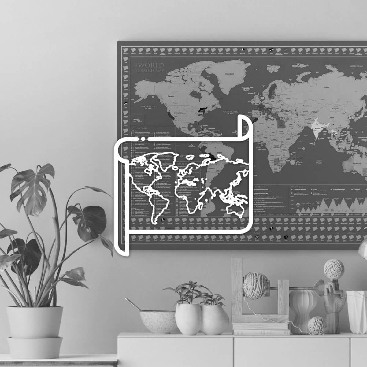 Mapas de pared y decoración