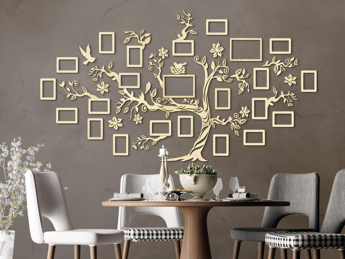 Árbol genealógico de madera - Decoración de pared